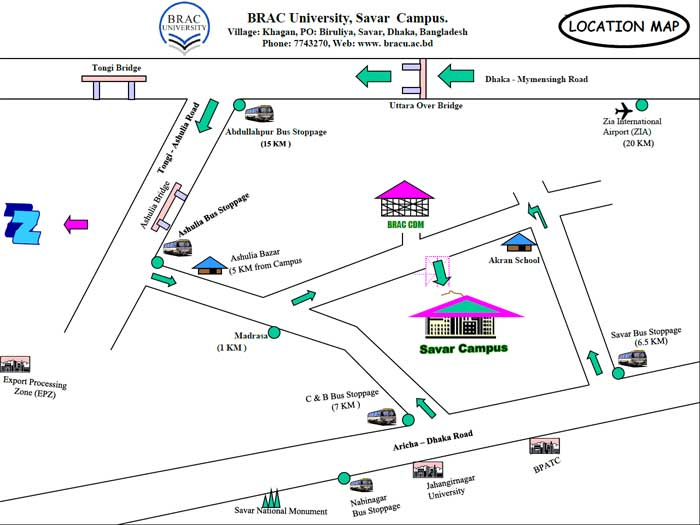 Residential Campus Location Map