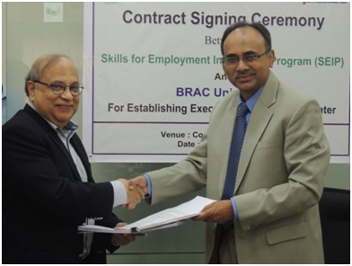 Contract Signing Ceremony of SEIP-BIGD held | Brac University